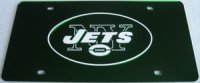 New York Jets Green Laser License Plate