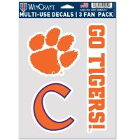 Clemson Tigers 3 Fan Pack Decals