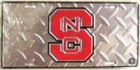 North Carolina State Wolfpack Diamond License Plate