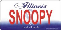 Design It Yourself Custom Illinois State Look-Alike Plate #2