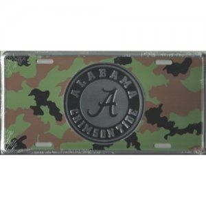 Alabama Crimson Tide Camo License Plate