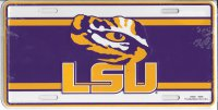 LSU Eye Of The Tiger Metal License Plate