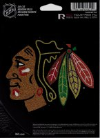 Chicago Blackhawks Glitter Die Cut Vinyl Decal