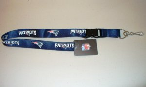 New England Patriots Lanyard With Safety Fastener