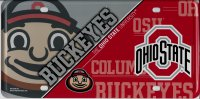 Ohio State Buckeyes Metal License Plate