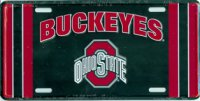 Ohio State Buckeyes Black License Plate