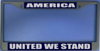 America - United We Stand Photo License Plate Frame