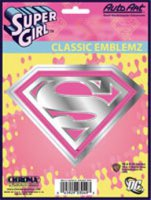 Supergirl Pink/Chrome Embossed Decal