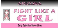Arizona Pink Ribbon License Plate