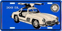 Mercedes Benz 300 SL License Plate