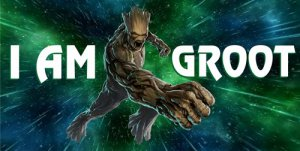I Am Groot Photo License Plate