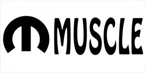 Mopar Muscle Photo License Plate