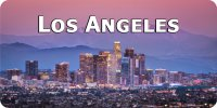 Los Angeles Skyline Photo License Plate
