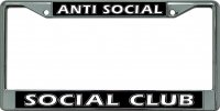 Anti Social Social Club Chrome License Plate Frame