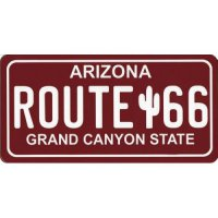 Route 66 (Red) Photo License Plate