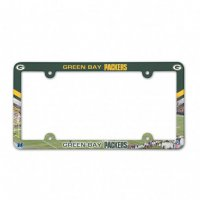 Green Bay Packers Full Color Plastic License Plate Frame