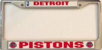 Detroit Pistons Chrome License Plate Frame