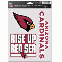 Arizona Cardinals 3 Fan Pack Decals