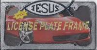 Jesus Chrome Fish License Plate Frame