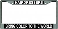 Hairdressers Bring Color … Chrome License Plate Frame