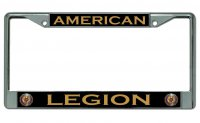 American Legion #2 Chrome License Plate Frame