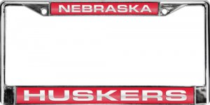 Nebraska Huskers Laser Chrome License Plate Frame