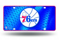 Philadelphia 76'ers Metal License Plate