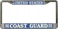 U.S. Coast Guard Chrome License Plate Frame
