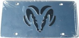Dodge Ram Silver Laser License Plate