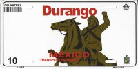 Durango Mexico Look A Like Metal License Plate