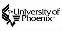 University of Phoenix on White Photo License Plate