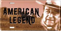 John Wayne American Legend Metal License Plate