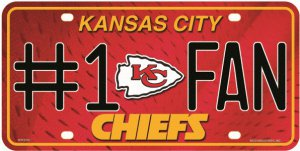 Kansas City Chiefs #1 Fan License Plate