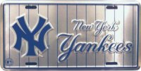 New York Yankees (Silver Pinstripes) License Plate