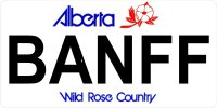 Alberta BANFF Photo License Plate