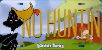 Daffy Duck No Hunting Metal License Plate