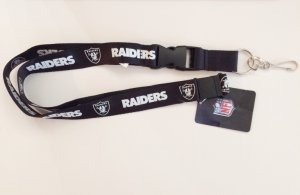 Oakland Raiders Black Lanyard With Safety Latch