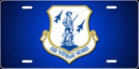 Air National Guard Insignia Airbrush License Plate