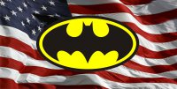 Batman Logo With American Flag Photo License Plate