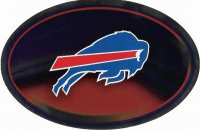 Buffalo Bills Chrome Die Cut Oval Decal
