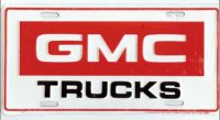GMC Truck on White License Plate