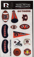 Auburn Tigers Variety Pack Tattoo Set