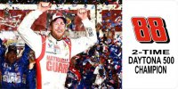 Dale Jr. #88 Two Time Daytona Champ Photo License Plate