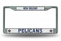 New Orleans Pelicans Chrome License Plate Frame