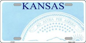Kansas State Background Blank Metal License Plate