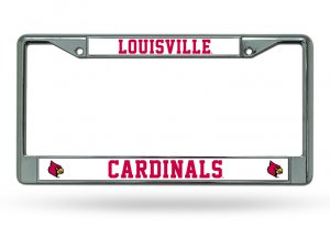 Louisville Cardinals Chrome License Plate Frame