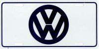 Volkswagen Logo Metal License Plate