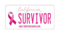 California Breast Cancer Survivor Photo License Plate