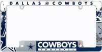 Dallas Cowboys All Over Chrome License Plate Frame