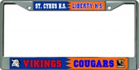 St. Cyrus H.S. / Liberty H.S. House Divided Photo Frame